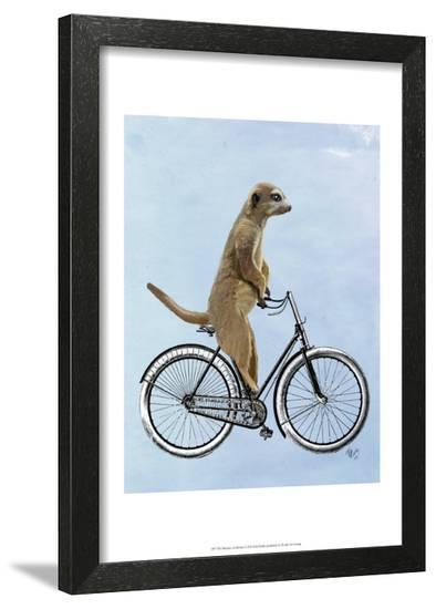 Meerkat on Bicycle-Fab Funky-Framed Art Print