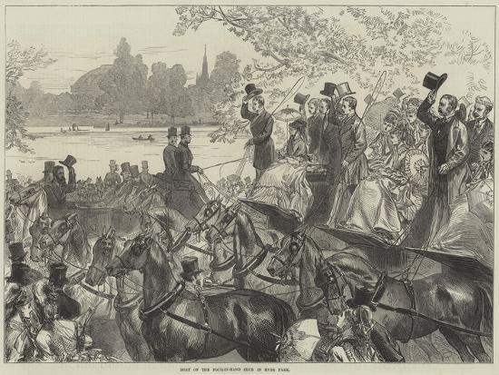 Meet of the Four-In-Hand Club in Hyde Park-Arthur Hopkins-Giclee Print