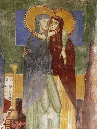 Meeting, 12th Century Fresco in Chapel of Saint Magdalene, Hocheppan Castle, Bolzano--Giclee Print