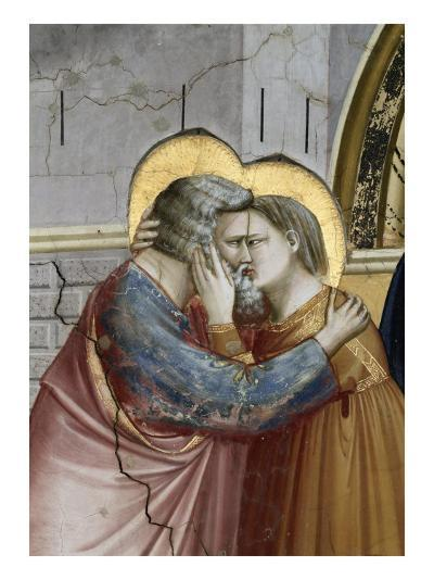 Meeting at the Golden Gate, Detail-Giotto di Bondone-Giclee Print