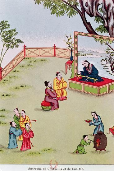 Meeting Between Confucius--Giclee Print
