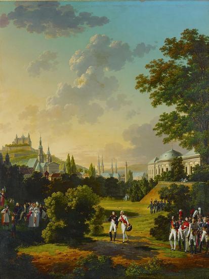 Meeting between Napoleon I and the Grand Duke Ferdinand Joseph at Wuerzburg, Germany,1806.-Hyppolyte Lecomte-Giclee Print