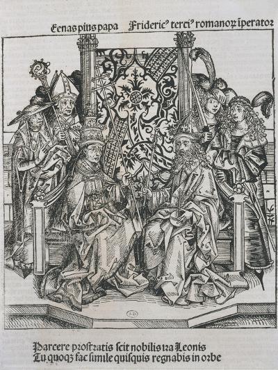 Meeting Between Pope Pius II and Frederick III, Emperor of Germany--Giclee Print