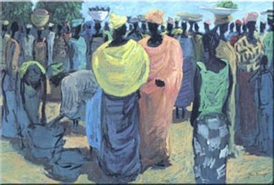 Meeting In The Market-Jan Kruip-Art Print