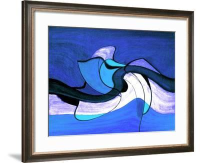Meeting in the Middle - Blue-Ruth Palmer-Framed Art Print