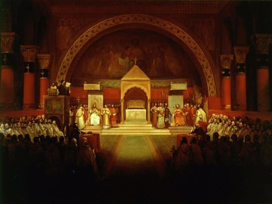Meeting of Chapter of Knights Templar in Paris, April 22, 1147-Francois-Marius Granet-Giclee Print
