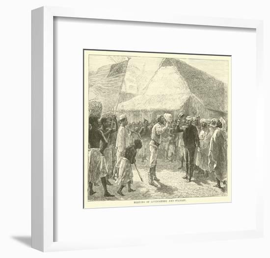 Meeting of Livingstone and Stanley--Framed Giclee Print