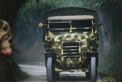 Meeting of Military Vehicles, Fiat Spa 35, 1935--Giclee Print