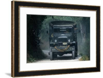 Meeting of Military Vehicles, Truck Gmc, 1942--Framed Giclee Print