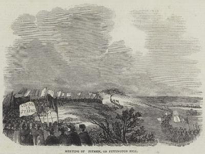 Meeting of Pitmen, on Pittington Hill--Giclee Print