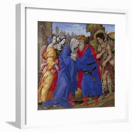 Meeting of Saints Joachim and Anne at the Golden Gate, 1497-Filippino Lippi-Framed Giclee Print