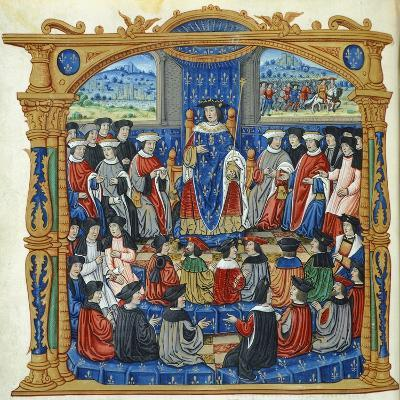 Meeting of States, Miniature, France 16th Century--Giclee Print