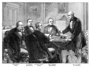 Meeting of the Arbitrators on the 'Alabama' Claims at Geneva, 1871 (Late 19th Centur)