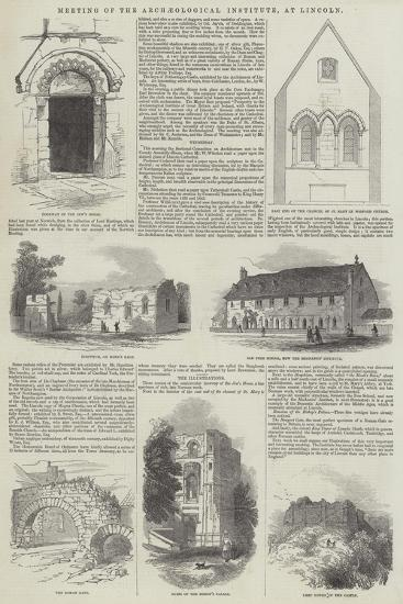 Meeting of the Archaeological Institute, at Lincoln--Giclee Print