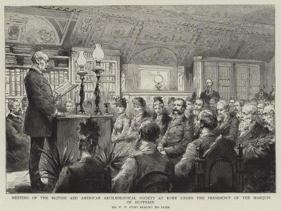 Meeting of the British and American Archaeological Society at Rome under the Presidency of the Marq--Giclee Print