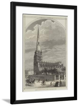 Meeting of the British Association at Bristol, St Mary Redcliffe Church--Framed Giclee Print