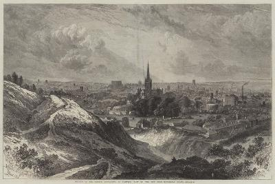 Meeting of the British Association at Norwich, View of the City from Mousehold Heath-Samuel Read-Giclee Print