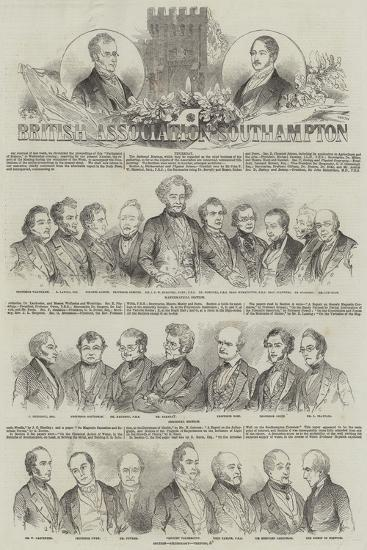 Meeting of the British Association at Southampton--Giclee Print