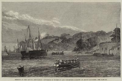 Meeting of the British Association, Excursion to Plymouth and Devonport, Landing at Mount Edgcumbe--Giclee Print