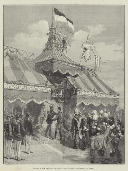 Meeting of the Emperors of Germany and Austria at Rohnstock, in Silesia-Thomas Walter Wilson-Giclee Print