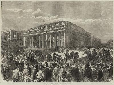 Meeting of the French National Assembly at Bordeaux--Giclee Print