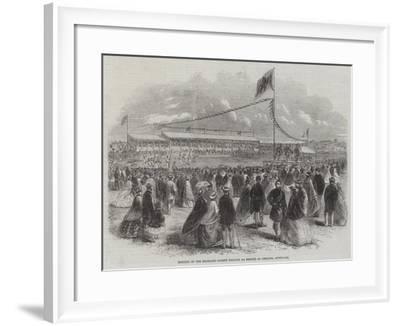 Meeting of the Highland Society (Comunn Na Feinne) at Geelong, Australia--Framed Giclee Print