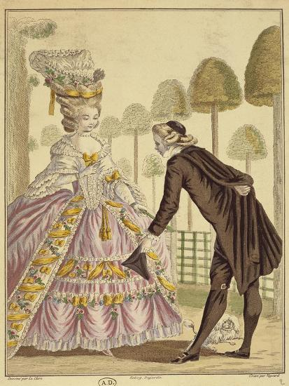 Meeting of the Knight Des Grieux and Manon Lescaut in Amiens-Sebastien Leclerc-Giclee Print