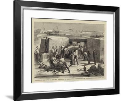 Meeting of the National Artillery Association at Shoeburyness--Framed Giclee Print