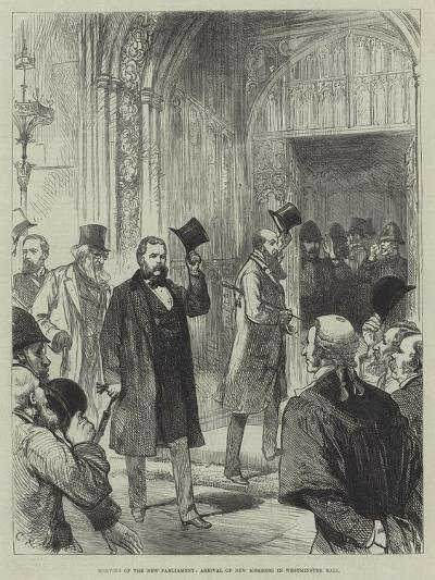 Meeting of the New Parliament, Arrival of New Members in Westminister Hall-Charles Robinson-Giclee Print