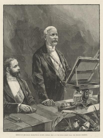 Meeting of the Royal Geographical Society-William Heysham Overend-Giclee Print