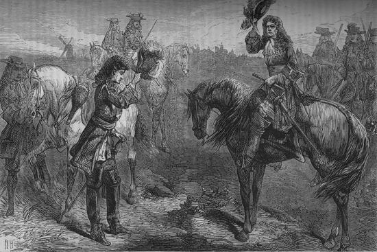 'Meeting of William III. and the Duke of Berwick', c1694, (c1880)-Unknown-Giclee Print