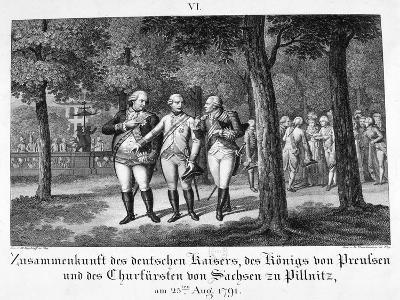 Meeting the German Emperor, 25th August, 1791, 19th Century--Giclee Print