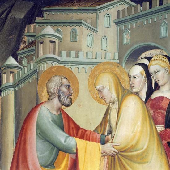 Meeting with Saint Anne--Giclee Print