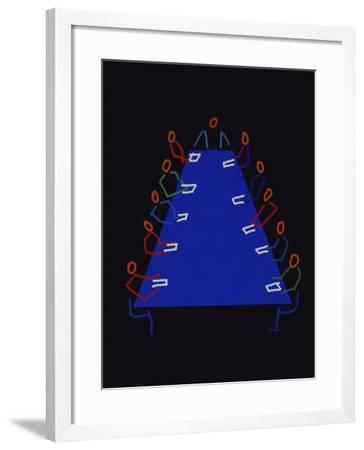 Meeting-Diana Ong-Framed Giclee Print