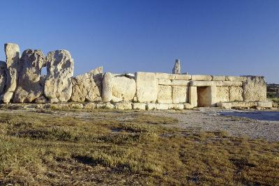 Megalithic Temple of Hagar Qim--Photographic Print