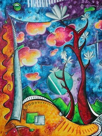 Abstract Colorful Landscape PoP Art