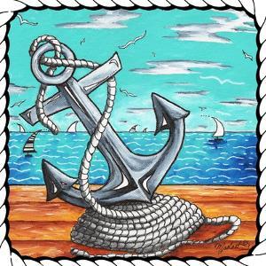 Anchors Away Rope - Border II by Megan Aroon Duncanson