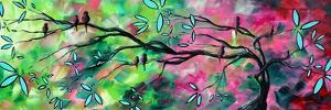 Birds Pink Green by Megan Aroon Duncanson