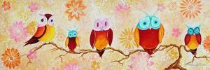 Chi Omega Owl Painting by Megan Aroon Duncanson
