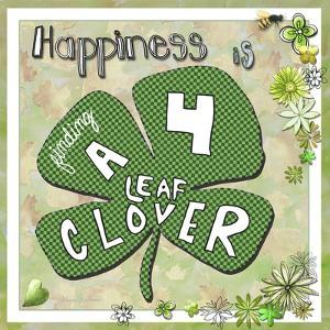 Happiness Is Finding a Four Leaf Clover by Megan Aroon Duncanson