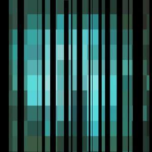 Pixels Stripe Pattern Design by Megan Aroon Duncanson