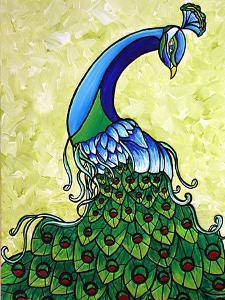 Preening Peacock by Megan Aroon Duncanson
