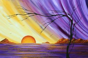 Purple and Gold Royal Sunset by Megan Aroon Duncanson