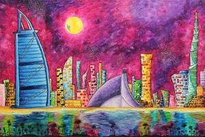The Luxe Life Dubai Cityscape by Megan Aroon Duncanson