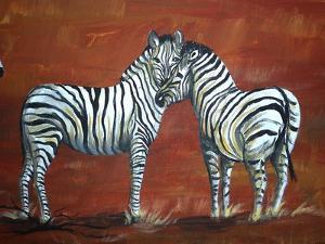Zebra Love by Megan Aroon Duncanson