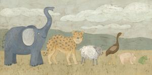 Animals All in a Row I by Megan Meagher