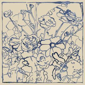 Indigo Floral Sketch II by Megan Meagher