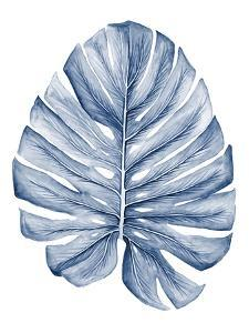 Indigo Tropical Leaves I by Megan Meagher