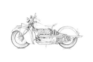 Motorcycle Sketch II by Megan Meagher