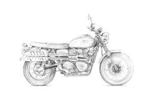 Motorcycle Sketch III by Megan Meagher